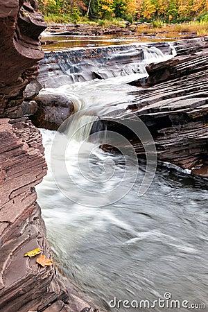Free Bonanza Falls In The Upper Peninsula Of Michigan - Autumn Royalty Free Stock Photography - 50676717