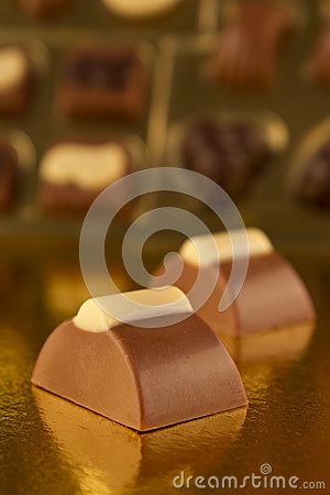 Bonbons from a box of chocolates