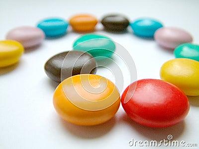 Bonbons multicolores