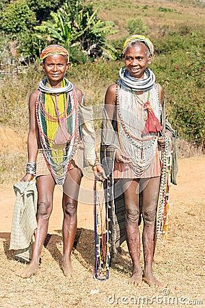 Bonda tribal old women Editorial Image
