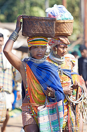 Bonda tribal woman Editorial Stock Photo