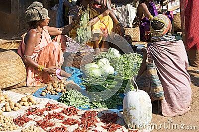 Bonda tribal woman at the Onokudelli market Editorial Photo