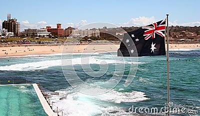 Bondi пляжа Австралии