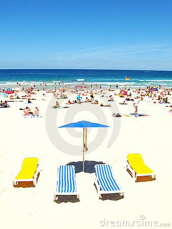 Free Bondi Beach Chairs Stock Photography - 2353272