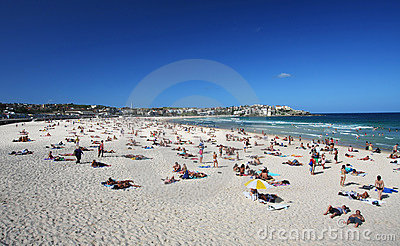 Bondi Beach in Sydney, Australia Editorial Stock Image