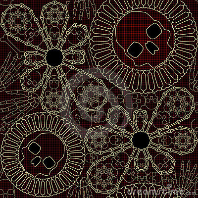 Bone lace seamless pattern