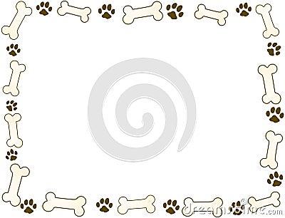 Bone and paw frame