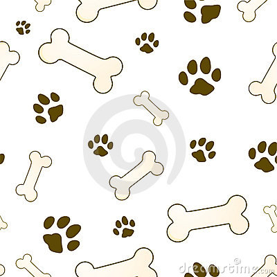 Bone and paw texture