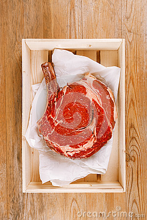 Bone-in Rib eye Steak steak on paper