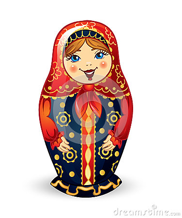 Boneca Matrioshka do russo