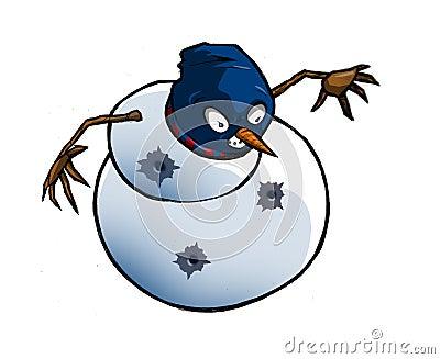 Boneco de neve de Gangsta