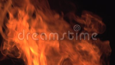 Bonefire, Feuer flammt im Lagerfeuer, Campingplatz in Botswana, stock footage