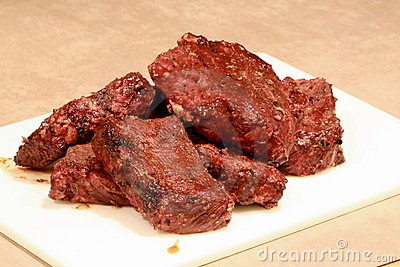 Boneless barbecue ribs