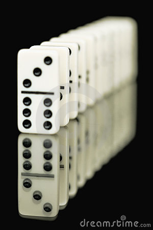 Bones Of Dominoes On A Black Background Stock Image - Image: 9211151