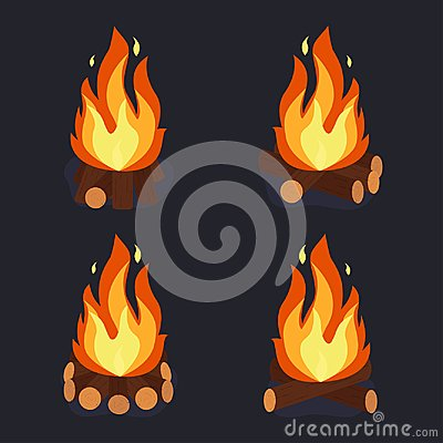 Free Bonfire And Burning Woodpile Royalty Free Stock Photography - 109247877