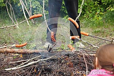 Bonfire campfire fire Flames grilling