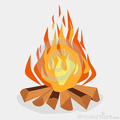 Free Bonfire - Camping, Burning Woodpile, Campfire Or Fireplace. Vector Stock Photos - 107928513
