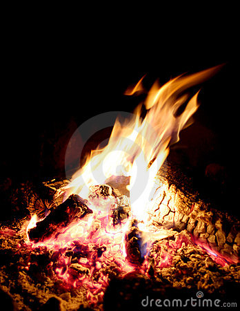 Free Bonfire Warms The Campsite Stock Photography - 954252