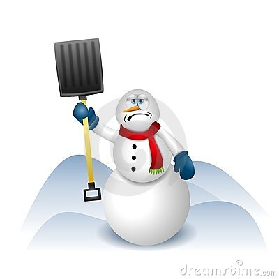 Bonhomme de neige avec la pelle neige image stock - Clipart bonhomme de neige ...