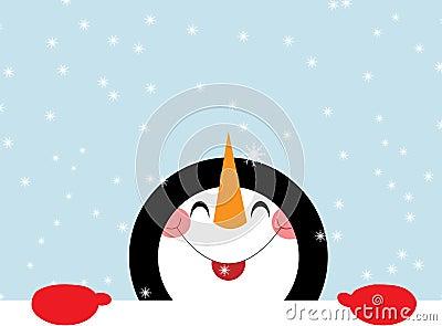 Bonhomme de neige heureux