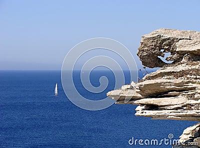 Bonifacio s limestone cliff