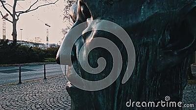 Bonn Germany, dnia 14 grudnia 2019 r.: Szef Konrada Hermanna Josepha Adenauera, który był pierwszym kanclerzem federalnym zdjęcie wideo
