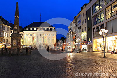 Bonn at night Editorial Stock Image