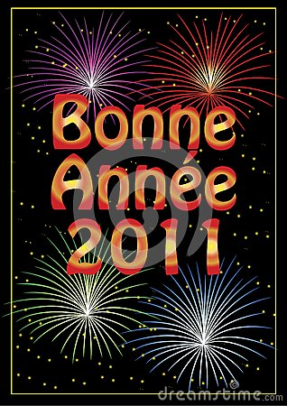 Bonne Année 2011 greeting card