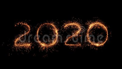 Bonne année Les chiffres 2020 en vrais scintillement banque de vidéos