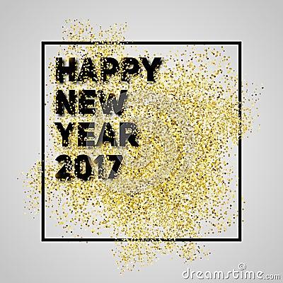 Bonne ann e 2017 ann e de scintillement d 39 or nouvelle fond - Bonne nouvelle anne ...