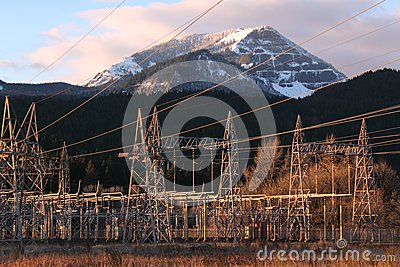 Bonneville Dam Power Line Towers, Pylons