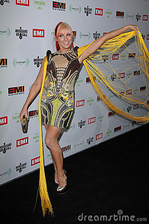 Bonnie McKee at the EMI Music 2012 Grammy Awards Party, Capital Records, Hollywood, CA 02-12-12 Editorial Image