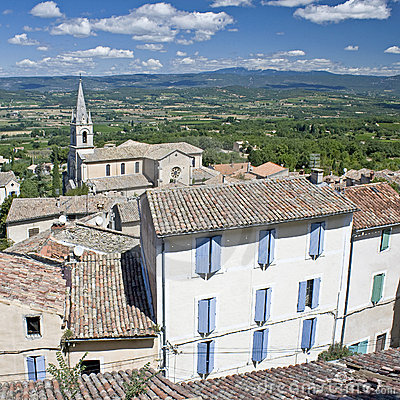Bonnieux french village in Provence.