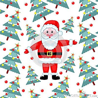 Bont-bomen en Kerstman