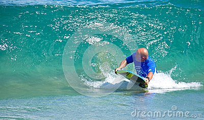Boogie boarding Editorial Image