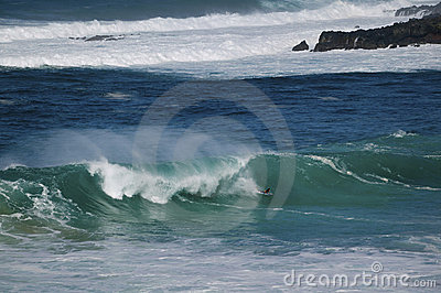 Boogie Boarding, North Shore, Oahu, Hawaii