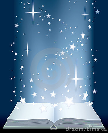 Free Book And Shining Stars Royalty Free Stock Image - 5261496