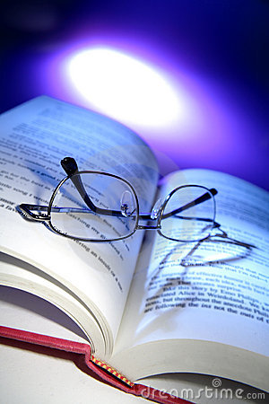 Free Book And Spectacles Royalty Free Stock Image - 2562946