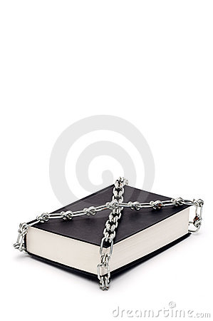 Book chained in censorship