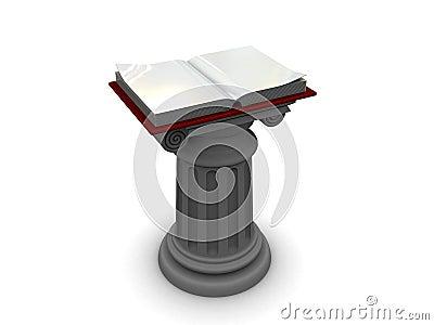 Book on column