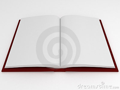 Book with empty pages
