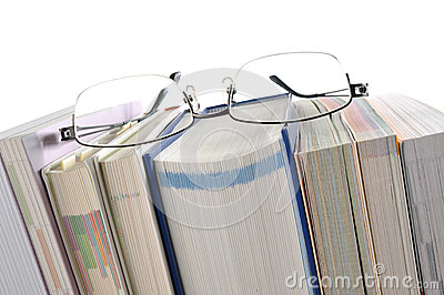 Book with Eyeglasses