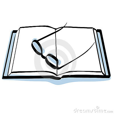Book and glasses icon vector