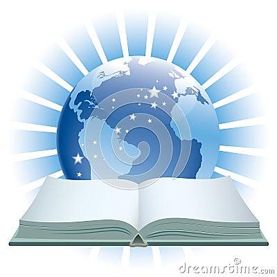 Book and globe