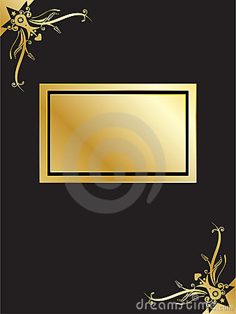Book with golden frame