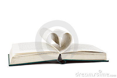 Book and heart shaped pages