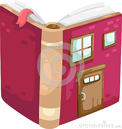 Book house vector