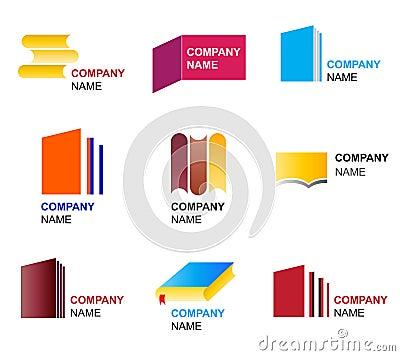Book icon and logo designs