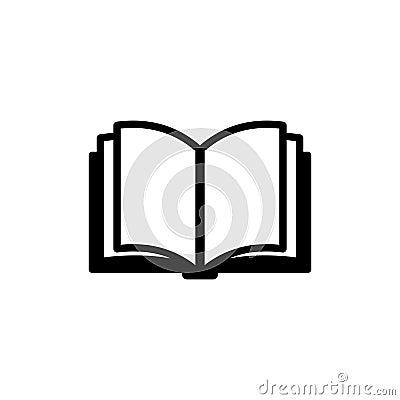 Free Book Icon. Vector Logo Royalty Free Stock Photo - 44664185