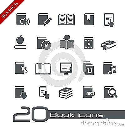 Free Book Icons // Basics Series Stock Photo - 26599310